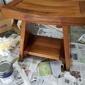 Table finished with TotalBoat Danish Teak Sealer