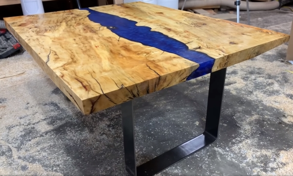 TotalBoat Epoxy River Table made by TotalBoat Ambassador Casey Martin