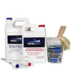 TotalBoat High Performance Epoxy Kit with Slow Hardener 2:1 Mix Ratio