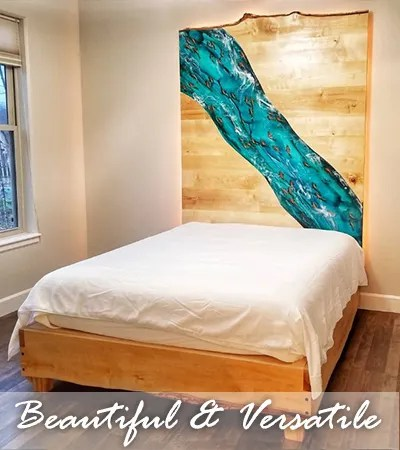 Jess Crow - Crow Creek Designs - Pigmented Epoxy Headboard