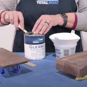 TotalBoat Lust Varnish and Gleam 2.0 Varnish - applying a Satin or Matte finish