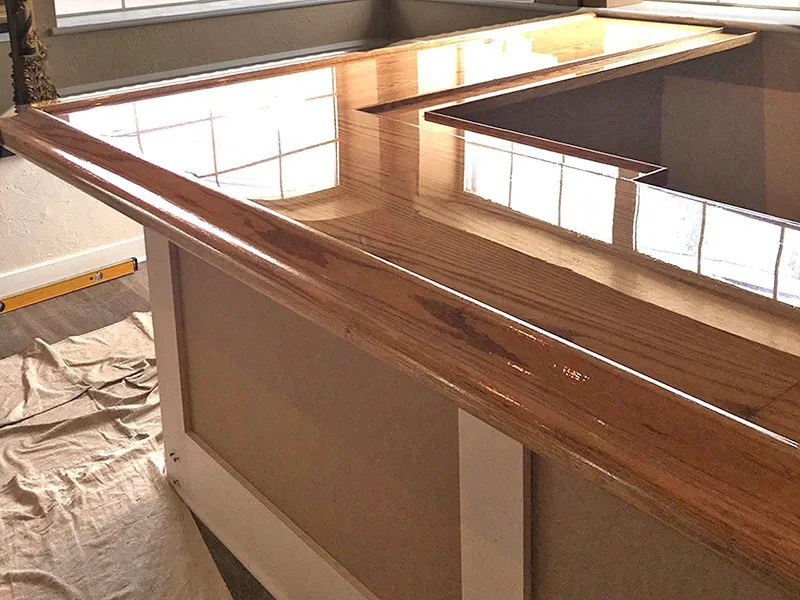 Shiny bar top covered with TotalBoat TableTop Epoxy