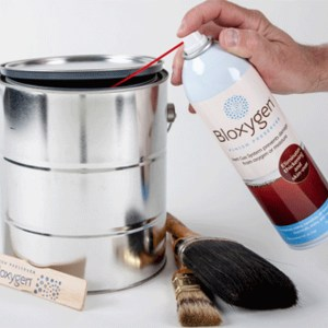 Bloxygen Finish Preserver for Varnish, Stain and Paint - In Use