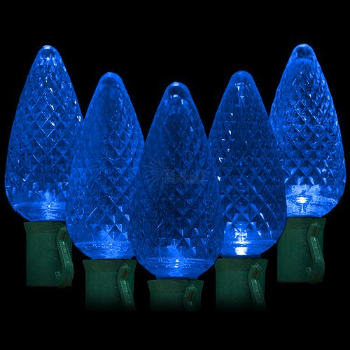 Blue C9 Led Christmas Lights