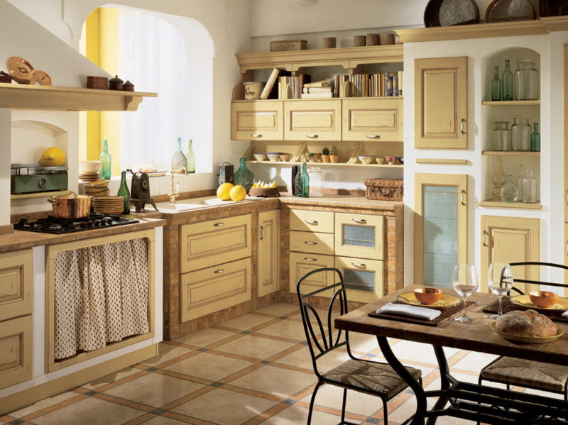 cucine piccole ikea 2016 catalogo prezzi. Cucina Country Moderna Verde Muratura Isola E Ikea