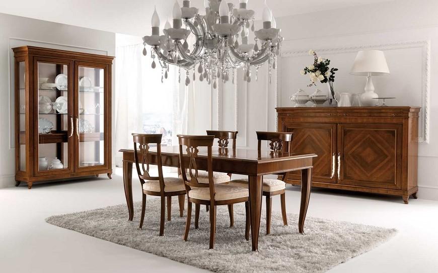 Un'altra soluzione per arredare cucina e soggiorno dividendo gli spazi, è quella di usare un classico tavolo con le sedie da inserire. Arredamento Classico Elegante Chic Classico E Moderno Insieme
