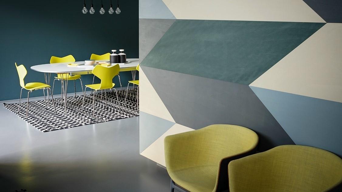 Sfumature che ampliano lo spazio; Pareti Colorate Particolari O Moderne Idee E Esempi