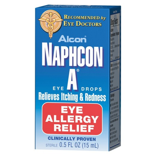 Alcon Naphcon Eye Drops, one of the best allergy eye drops