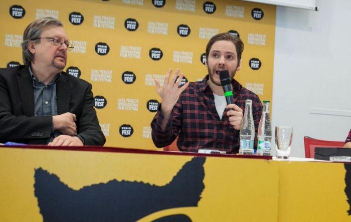 Štefan Uhrík (progr. ředitel Febiofestu) a Daniel Brühl