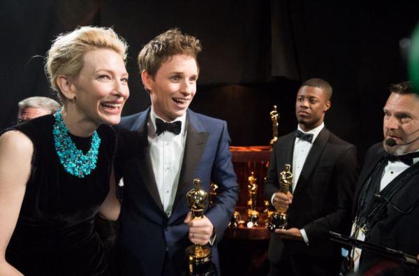 Cate Blanchett a Eddie Redmayne (foto: Richard Harbaugh / ©A.M.P.A.S.)