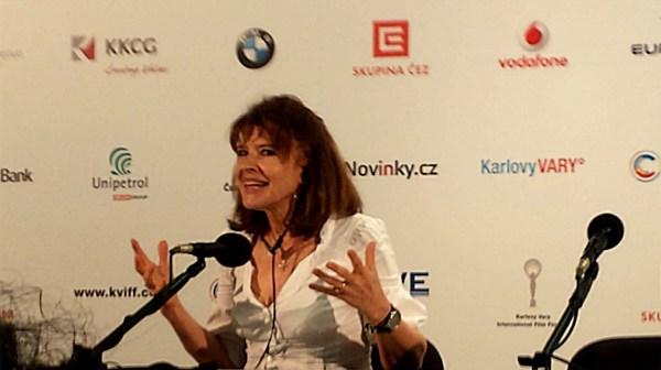 Fanny Ardant na tiskovce (foto: totalfilm.cz)