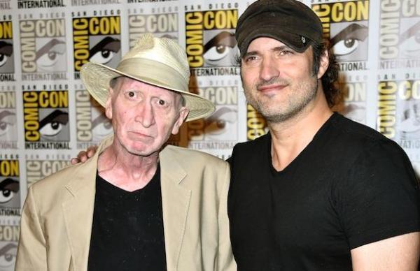 Frank Miller a Robert Rodriguez na prezentaci filmu na letošním Comic-Conu (foto: archiv)