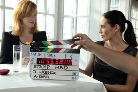 První klapka seriálu V OBJETÍ (foto HBO - D. Martinček)