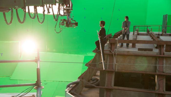 Muž na laně - natáčení