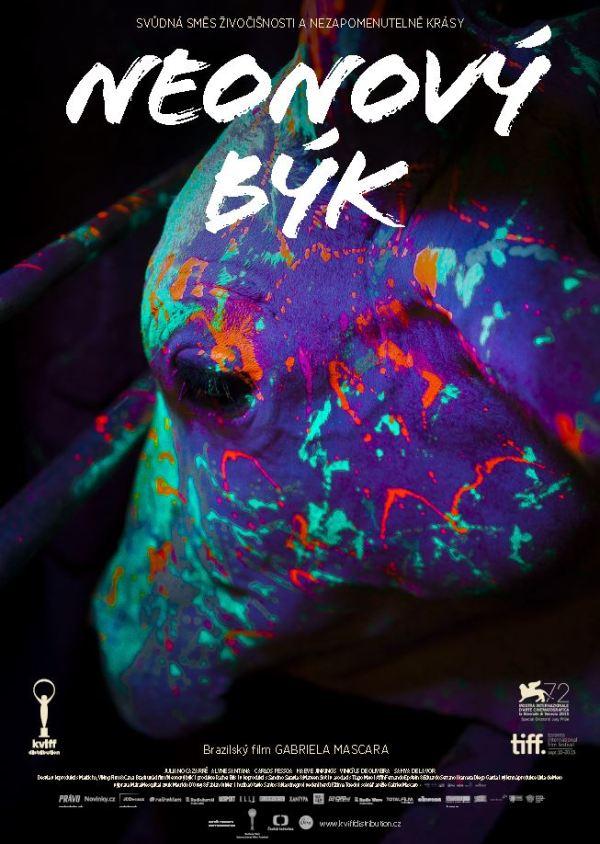 Neonový býk CZ poster