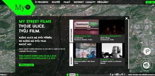Portál MyStreetFilms.cz