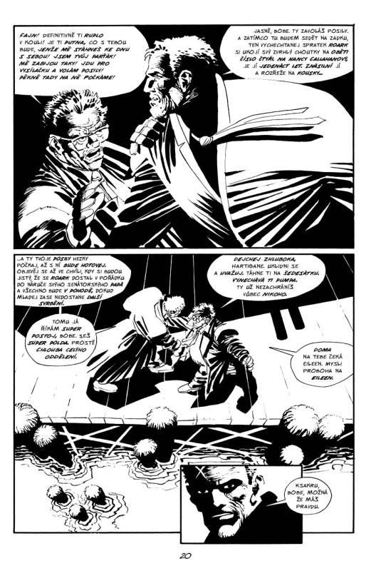 Sin City ukázka z komiksu