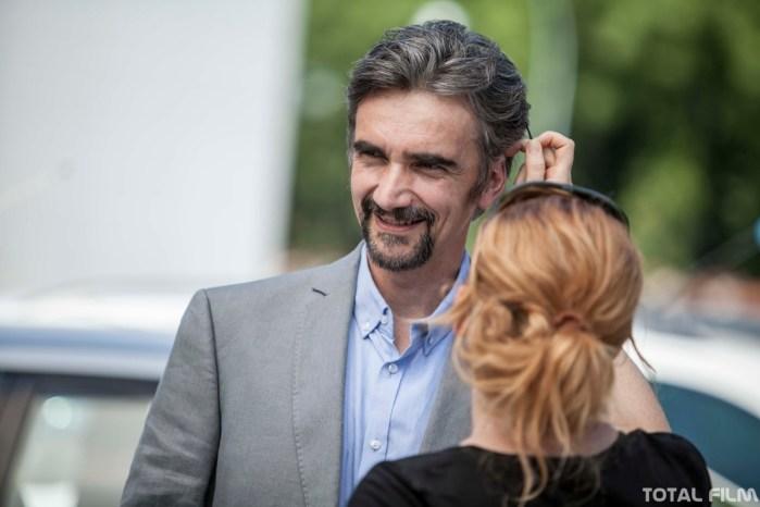 Martin Myšička na place filmu Ztraceni v Mnichově (režie: Petr Zelenka)