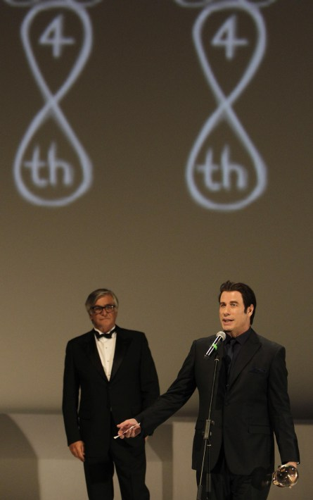 John Travolta oceněn glóbem (foto: KVIFF)