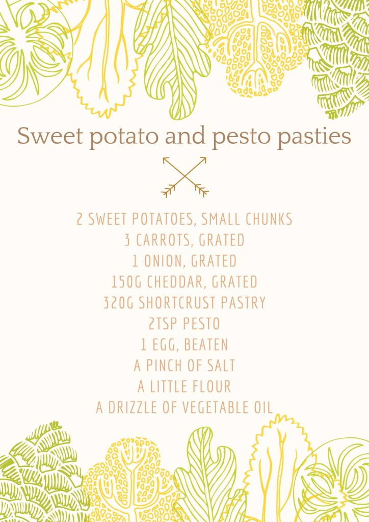total for tea, pasties, recipe