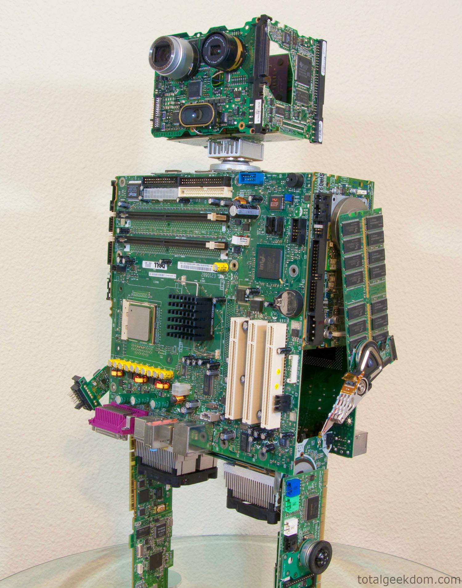 Computer Parts Re Purpose Robot