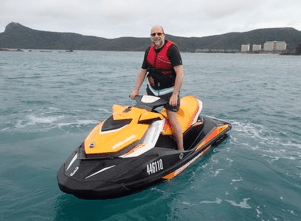 THP Client on JetSki in Australia!
