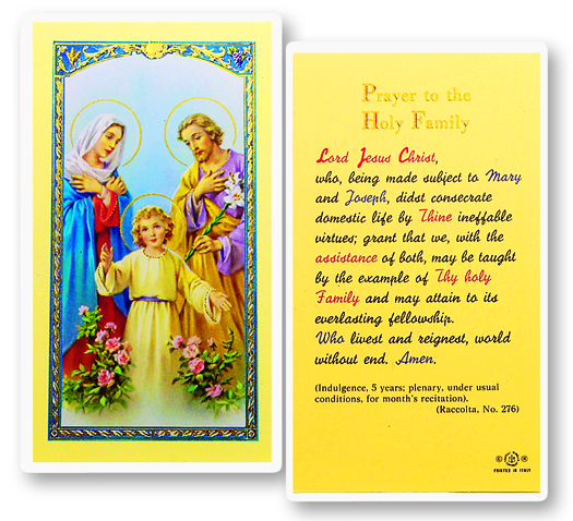 Individual Laminated Holy cards.