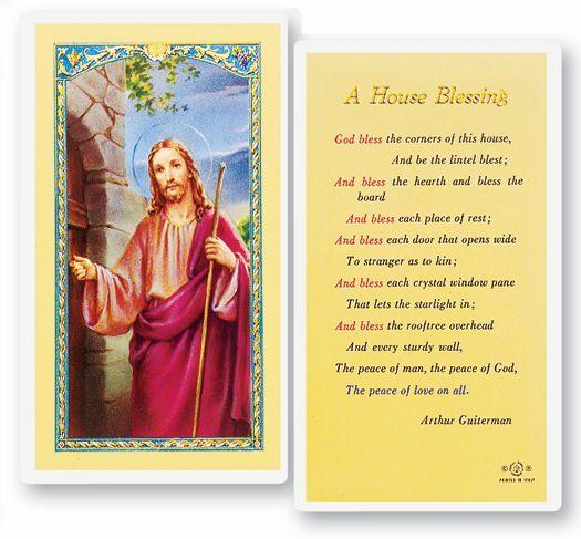 St Isidore Laminated Holy Card