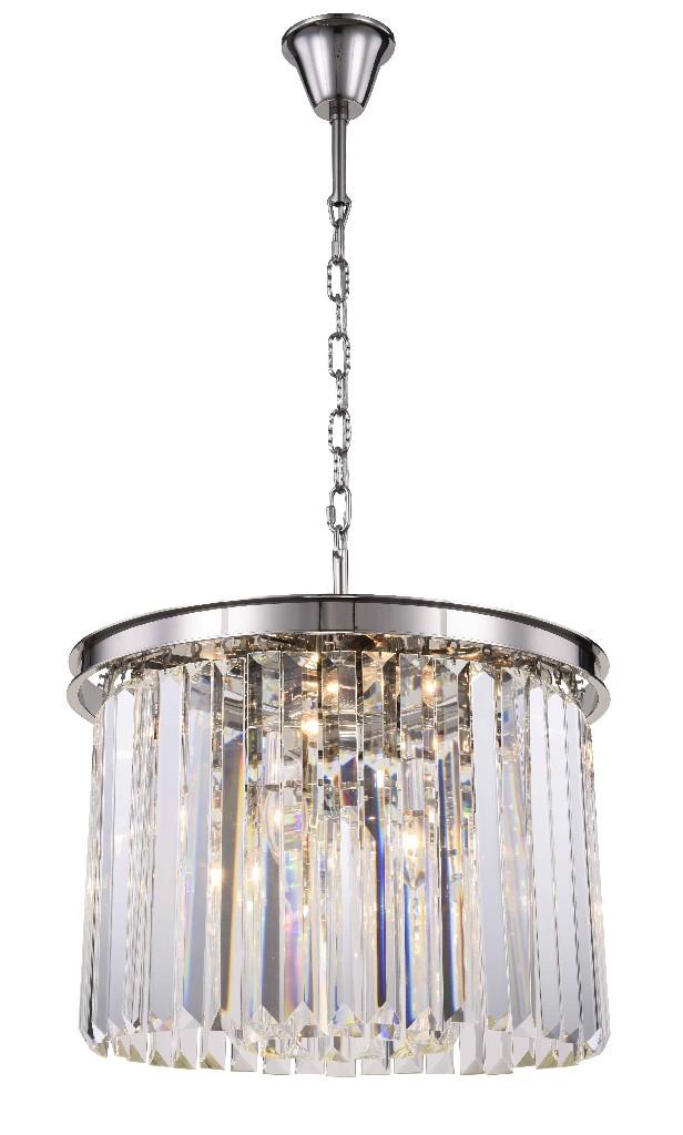 maria theresa 6 light gold chandelier golden teak smoky royal cut crystal elegant lighting 2801d20g gtrc