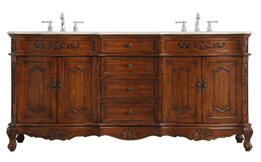 72 inch double bathroom vanity in teak elegant lighting vf10172dtk