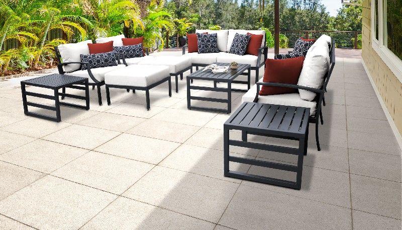 lexington 12 piece outdoor aluminum patio furniture set 12h in white tk classics lexington 12h white