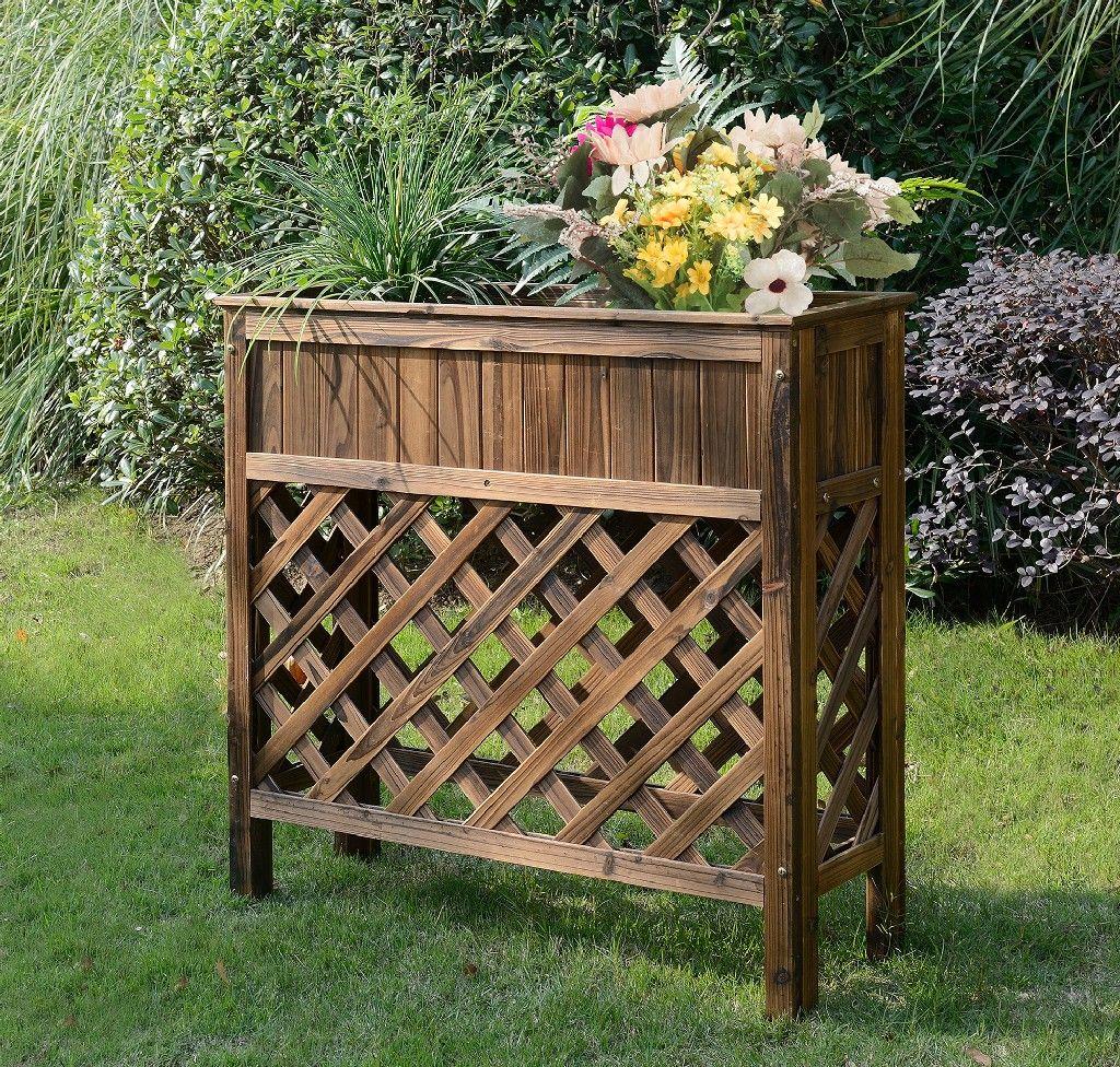 planters potts raised patio planter convenience concepts g10111