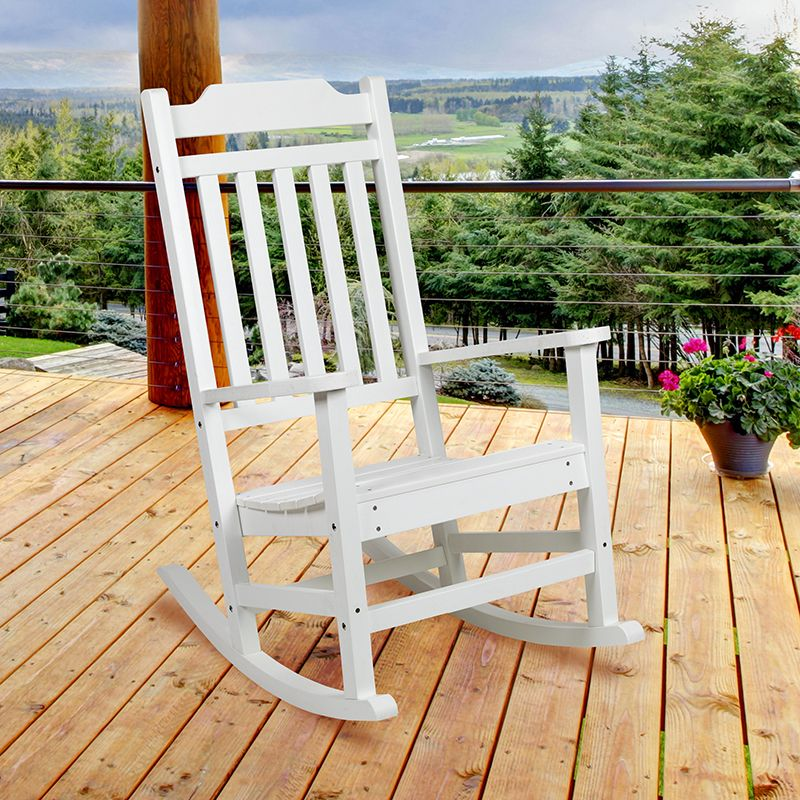 winston all weather poly resin rocking chair in white flash furniture jj c14703 wh gg