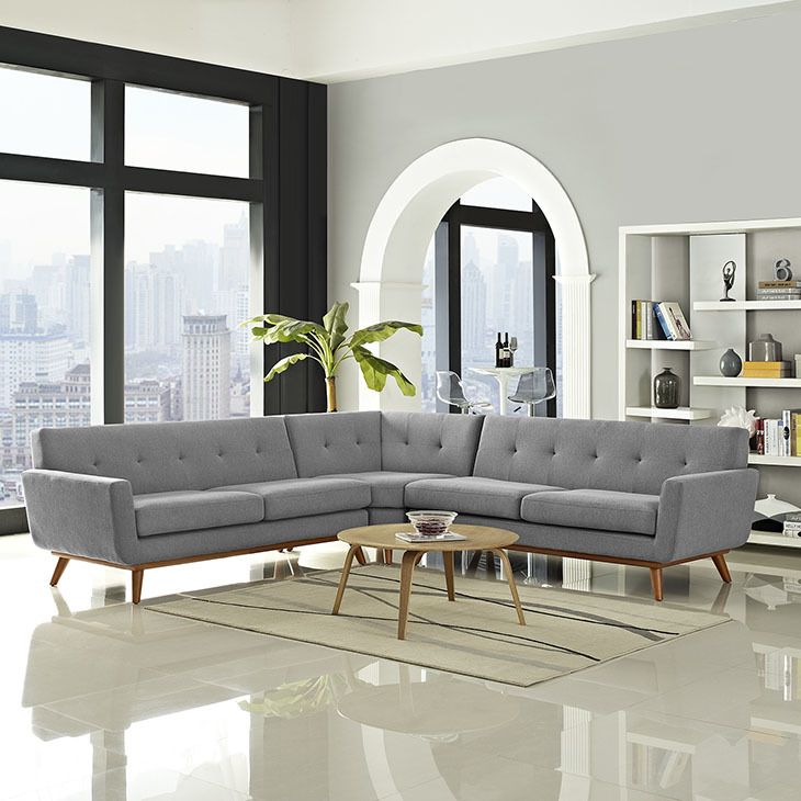 engage l shaped sectional sofa in expectation gray east end imports eei 2108 gry set