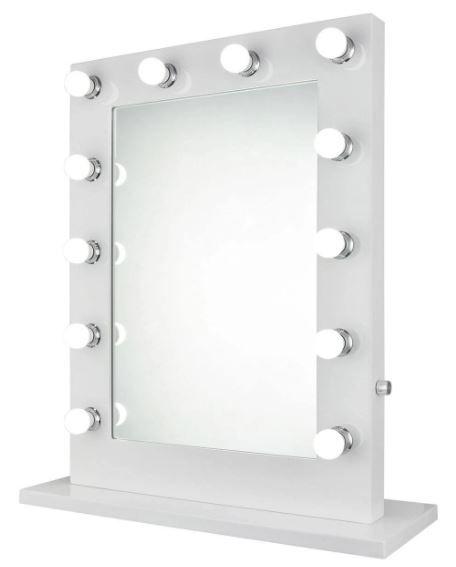 hollywood vanity mirror 5000k w27 5 h32 5 elegant lighting mre8505k