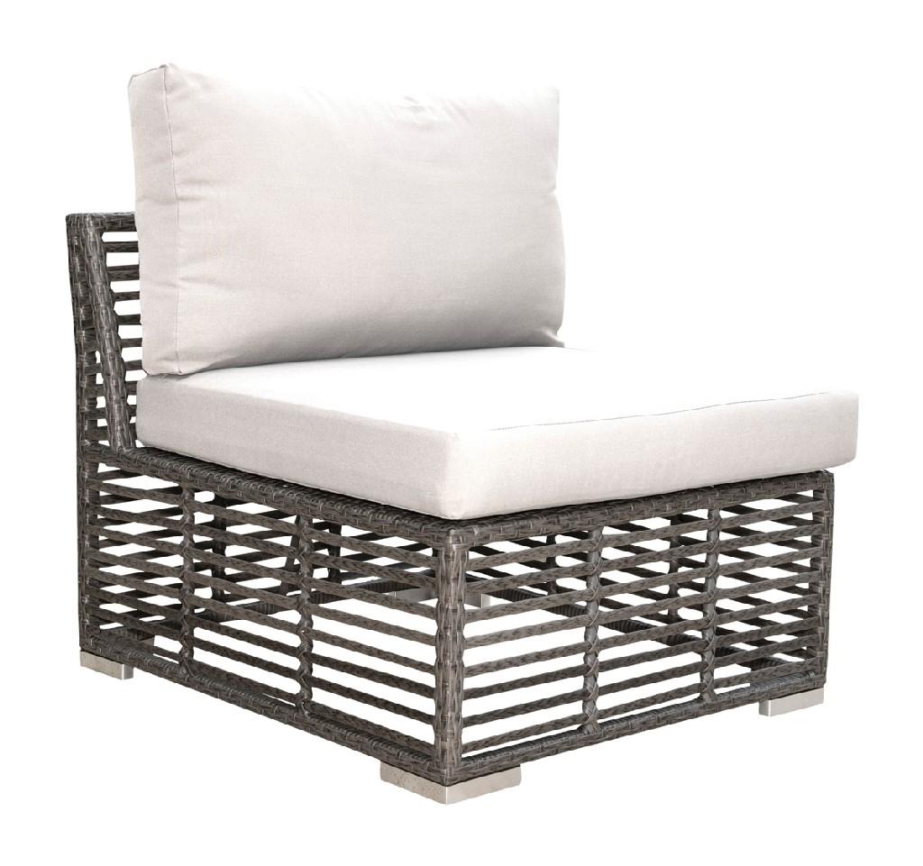 panama jack graphite modular armless chair with cushions pjo 1601 gry asu 758