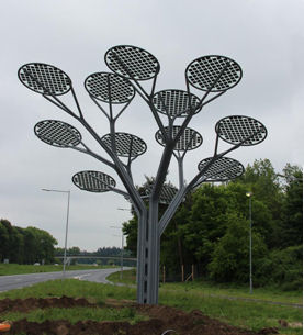 Solar Panel Trees in the Netherlands treated ClearShield Glass Protection