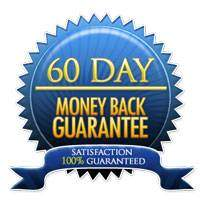 A trust seal showing a 60 day money back guarantee