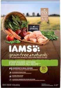IAMS Grain-Free Naturals Chicken & Garden Pea Recipe Adult Dry Dog Food