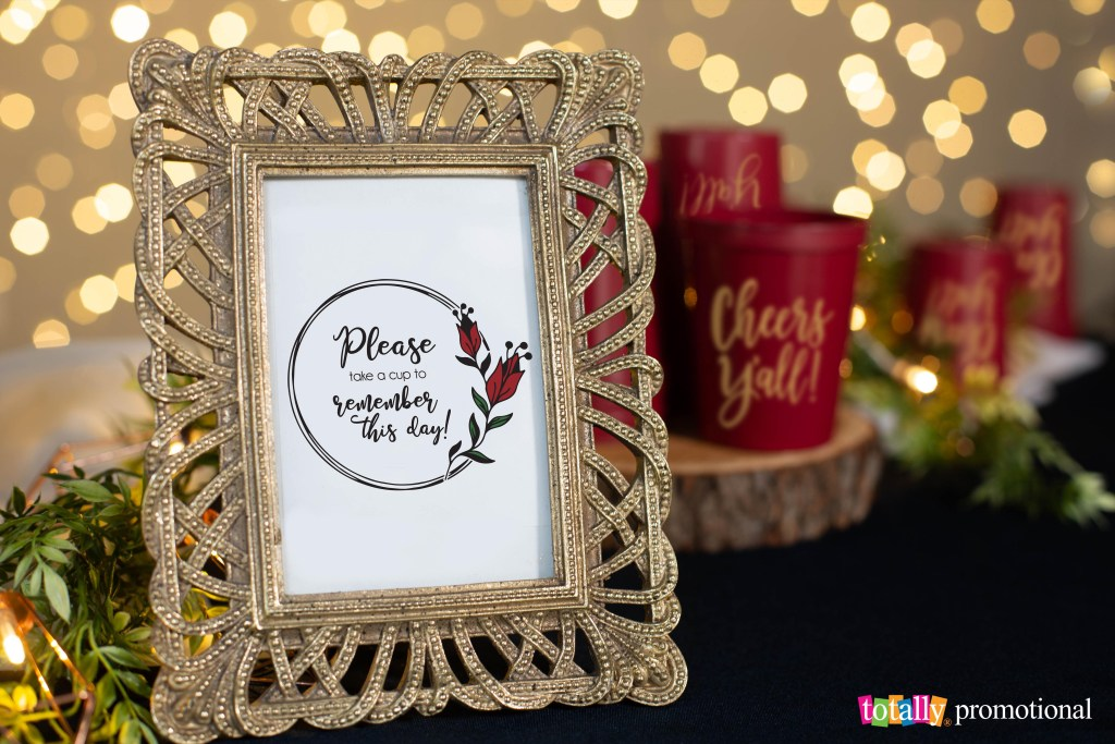 please take a cup wedding favor sign