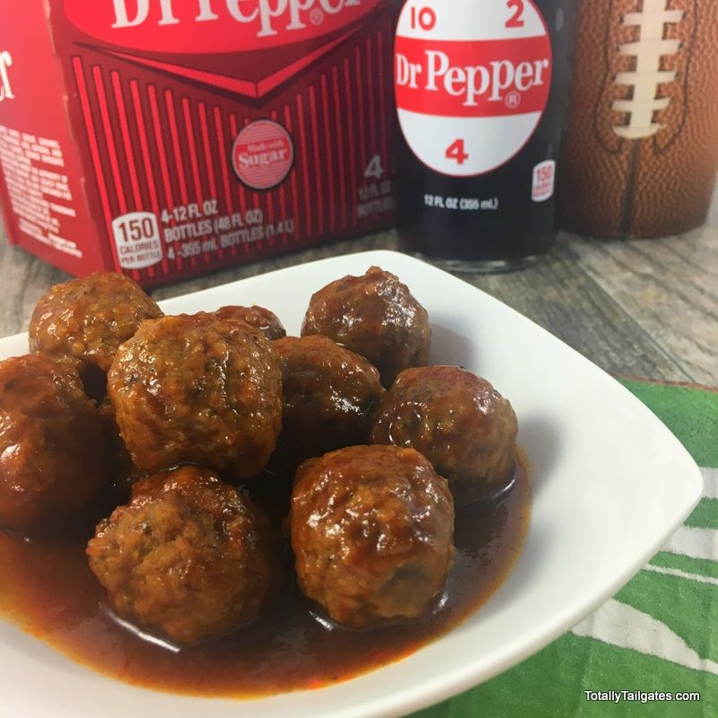 Dr. Pepper Meatball Appetizers