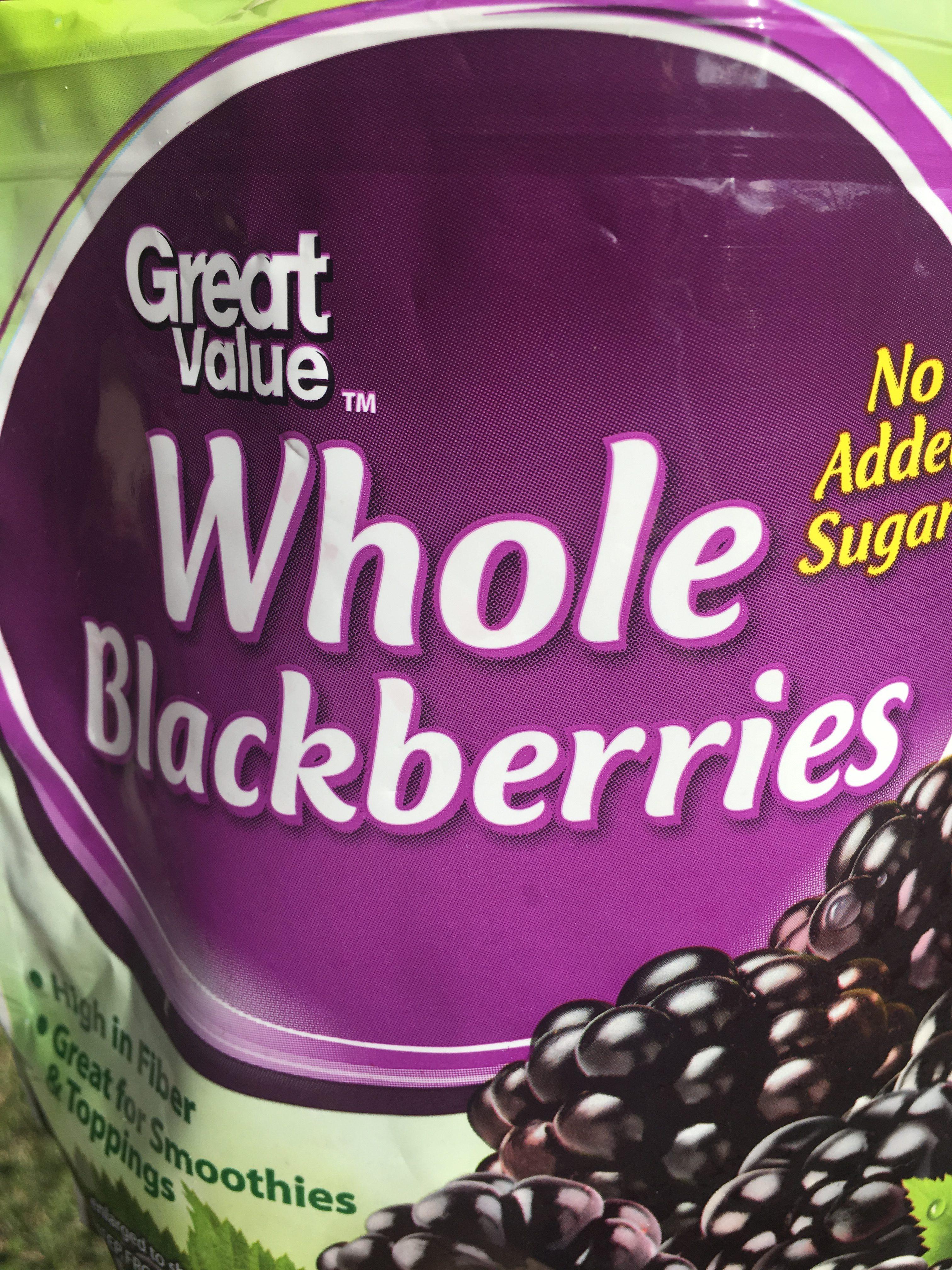 Frozen Blackberries are a great shortcut!