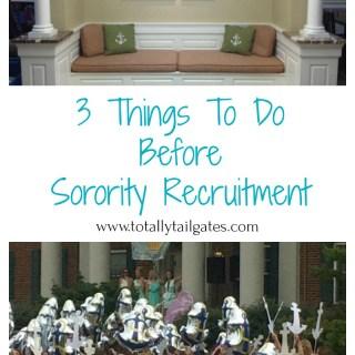 3 Things To Do Before Sorority Rush