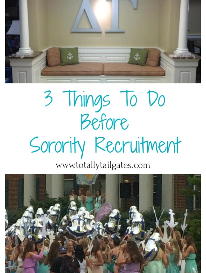 3 Things To Do Before Sorority Recruitment Begins