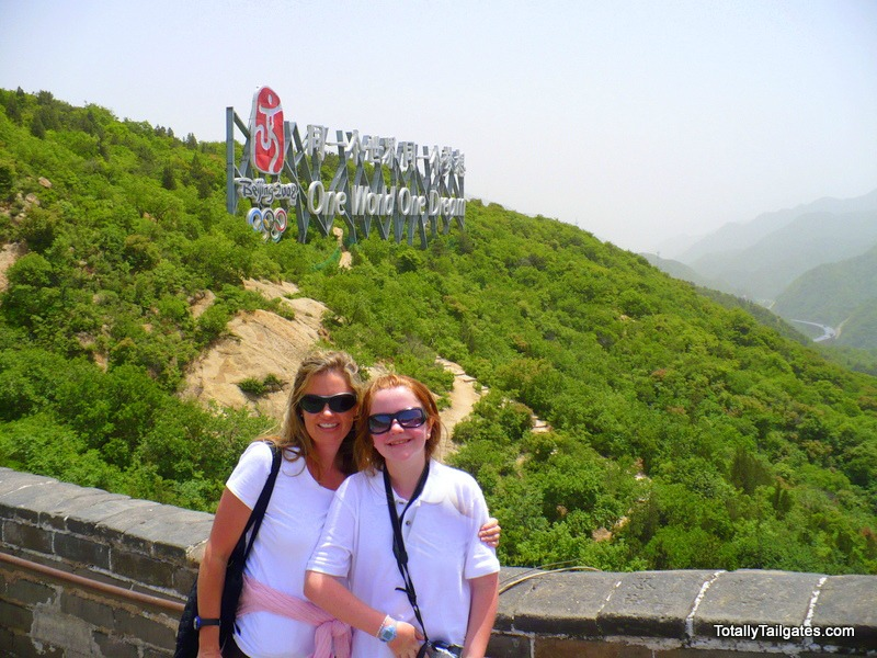 Great Wall of China before the 2008 Beijing Olympics.