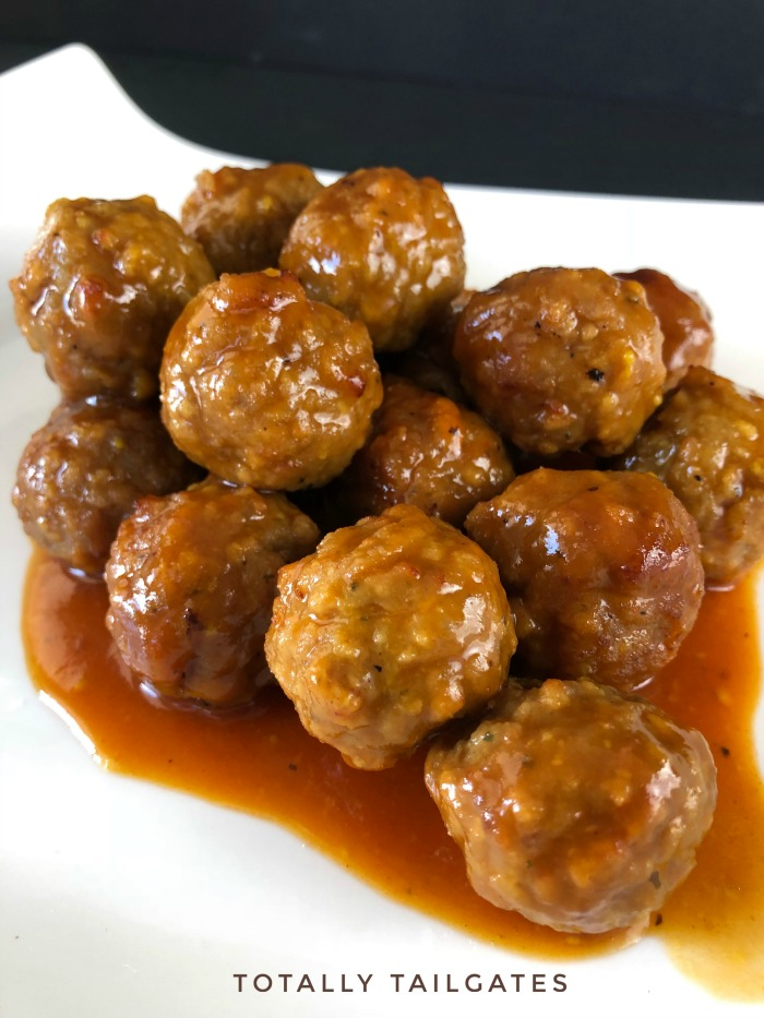 Slow Cooker Bourbon Meatballs are a great appetizer for parties!