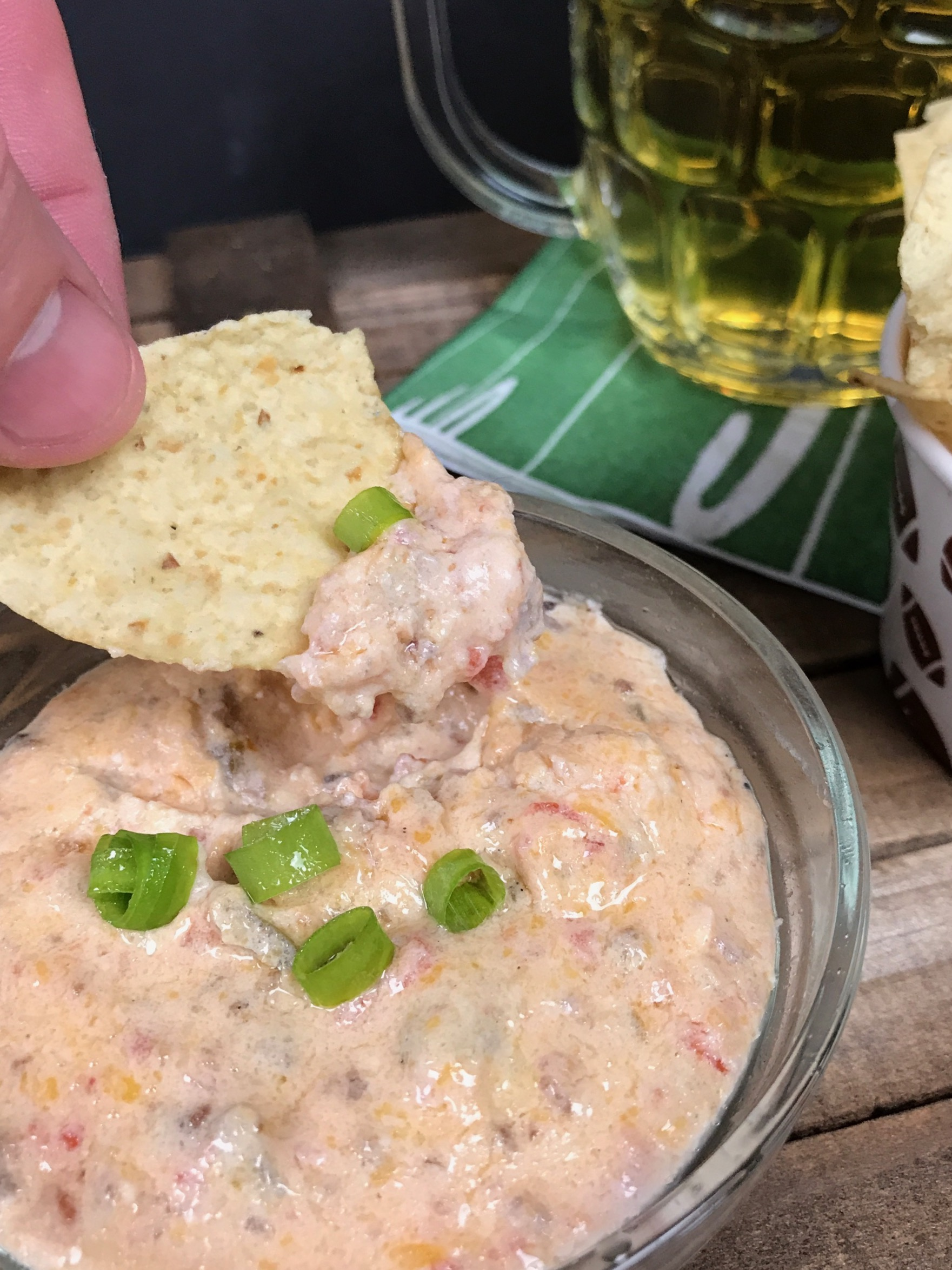 Hot Sausage Cheese Dip for Football Tailgates| Totally Tailgates