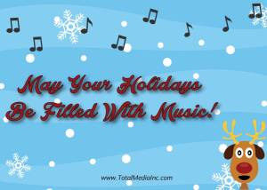 Singing Reindeer Card Back