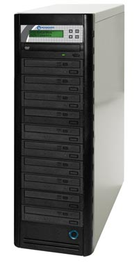 QD Economy Series CD/DVD Tower 1-to-10 Duplicator w/ HDD