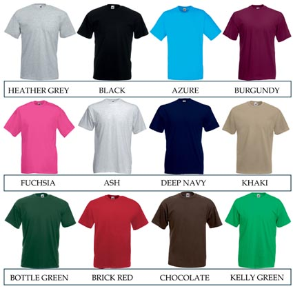 Fruit of the Loom Valueweight T Shirts | Printed T-Shirts ...